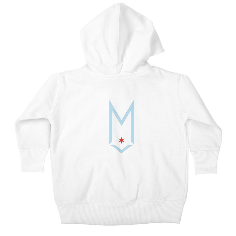 M - Chicago Logo Kids Baby Zip-Up Hoody by Shop Maplewood Brewery & Distillery