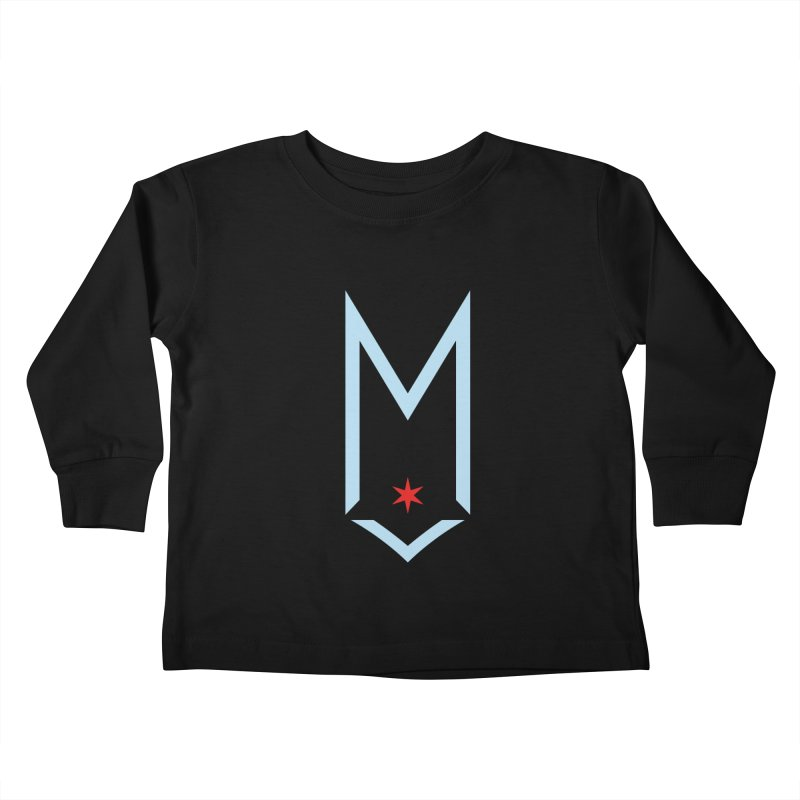 M - Chicago Logo Kids Toddler Longsleeve T-Shirt by Shop Maplewood Brewery & Distillery