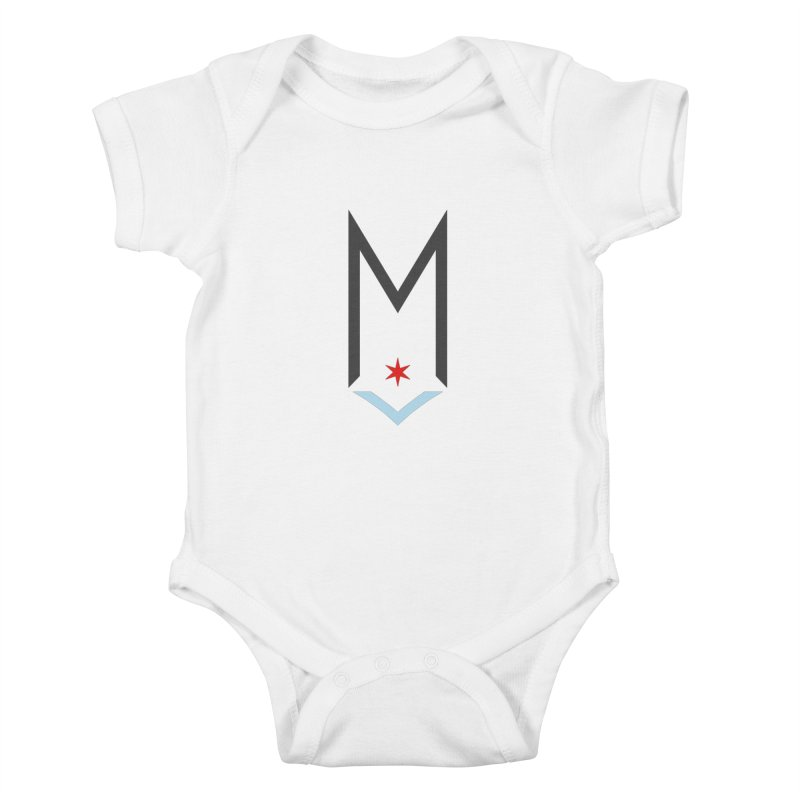 M - Classic Logo Kids Baby Bodysuit by Shop Maplewood Brewery & Distillery