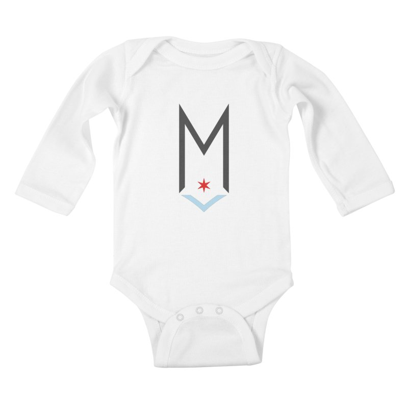 M - Classic Logo Kids Baby Longsleeve Bodysuit by Shop Maplewood Brewery & Distillery
