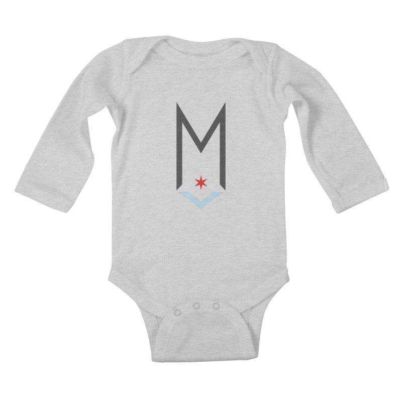 M - Classic Logo Kids Baby Longsleeve Bodysuit by Shop Maplewood Brewery & Distillery