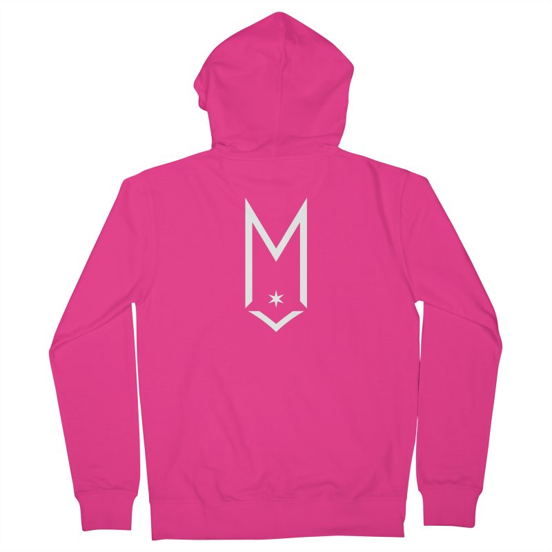 M - White Logo Men's French Terry Zip-Up Hoody by Shop Maplewood Brewery & Distillery