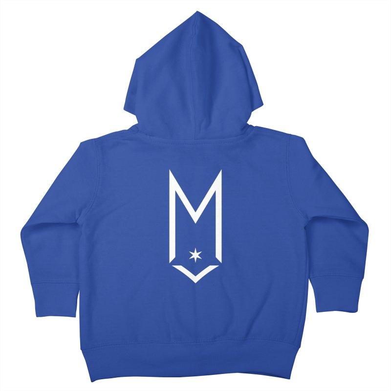 M - White Logo Kids Toddler Zip-Up Hoody by Shop Maplewood Brewery & Distillery