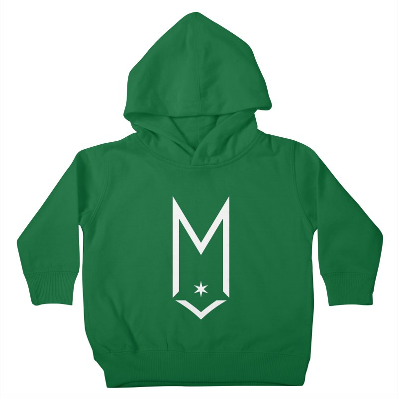 M - White Logo Kids Toddler Pullover Hoody by Shop Maplewood Brewery & Distillery