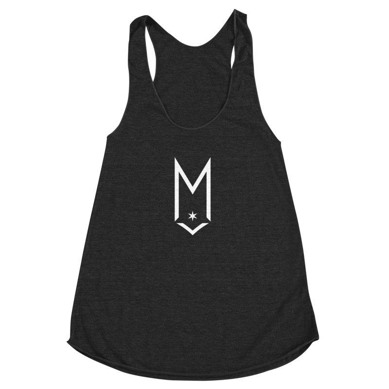 M - White Logo Women's Racerback Triblend Tank by Shop Maplewood Brewery & Distillery