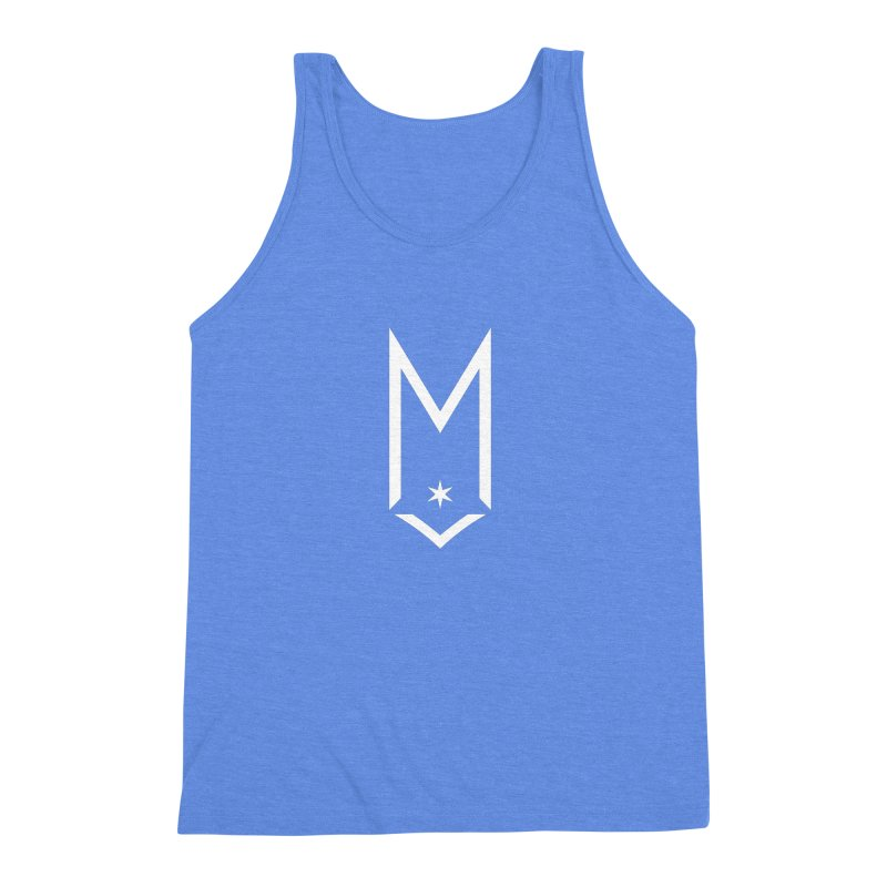 M - White Logo Men's Triblend Tank by Shop Maplewood Brewery & Distillery