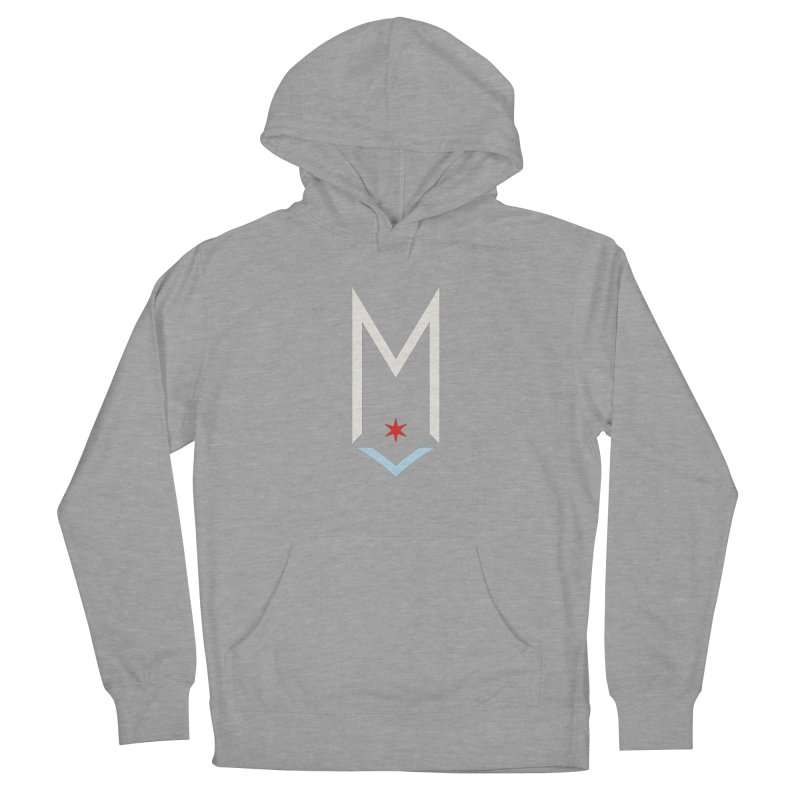 M - Off White Logo Women's French Terry Pullover Hoody by Shop Maplewood Brewery & Distillery