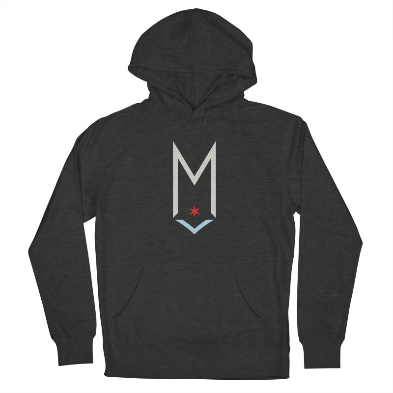 M - Off White Logo Men's French Terry Pullover Hoody by Shop Maplewood Brewery & Distillery