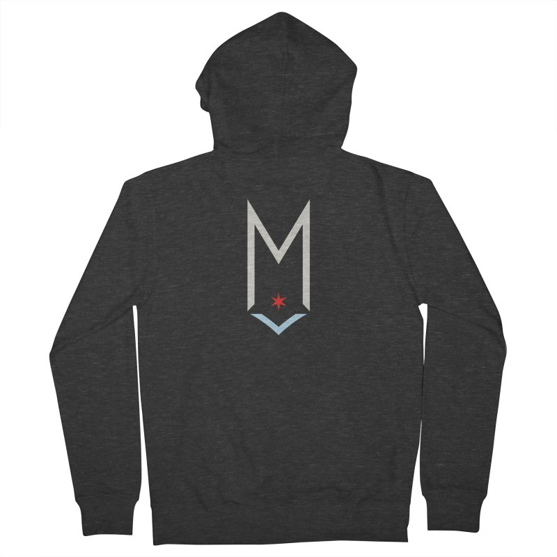 M - Off White Logo Women's French Terry Zip-Up Hoody by Shop Maplewood Brewery & Distillery