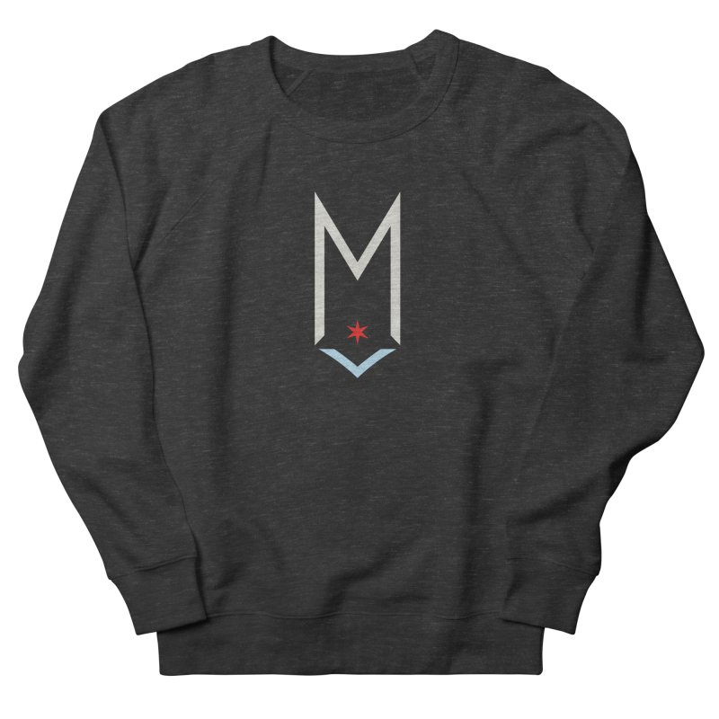 M - Off White Logo Women's French Terry Sweatshirt by Shop Maplewood Brewery & Distillery
