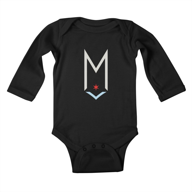 M - Off White Logo Kids Baby Longsleeve Bodysuit by Shop Maplewood Brewery & Distillery