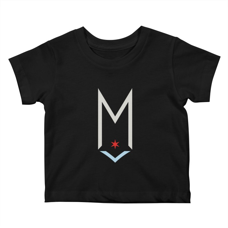 M - Off White Logo Kids Baby T-Shirt by Shop Maplewood Brewery & Distillery