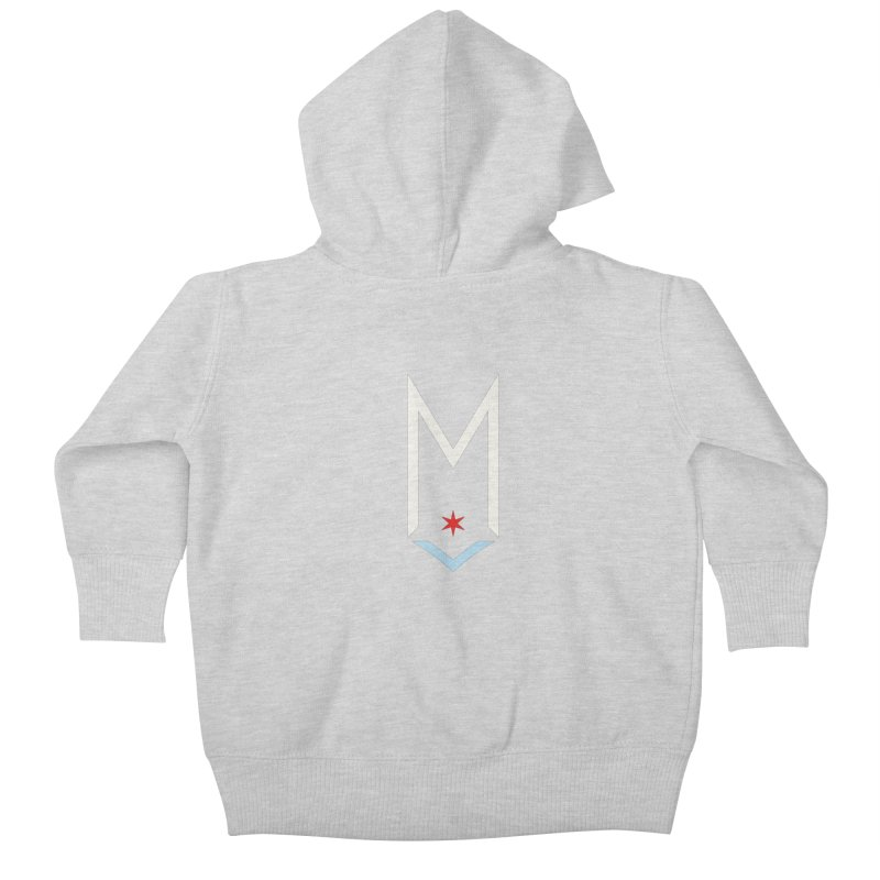 M - Off White Logo Kids Baby Zip-Up Hoody by Shop Maplewood Brewery & Distillery