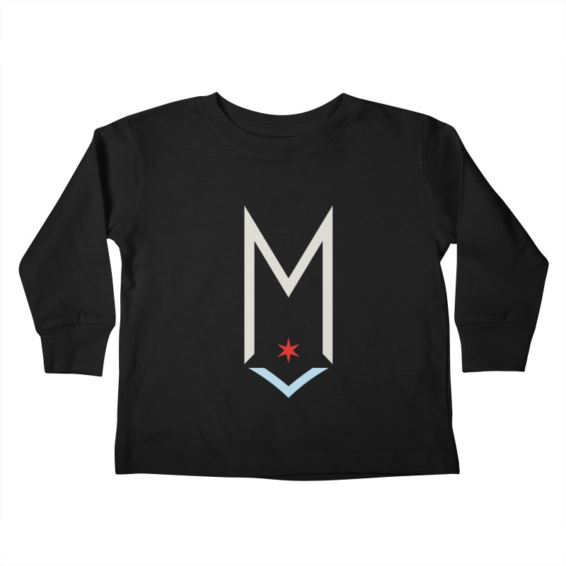 M - Off White Logo Kids Toddler Longsleeve T-Shirt by Shop Maplewood Brewery & Distillery
