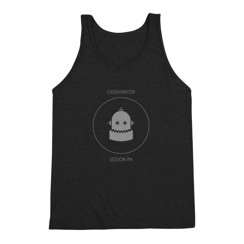 Crushinator - Faded White Logo Men's Triblend Tank by Shop Maplewood Brewery & Distillery