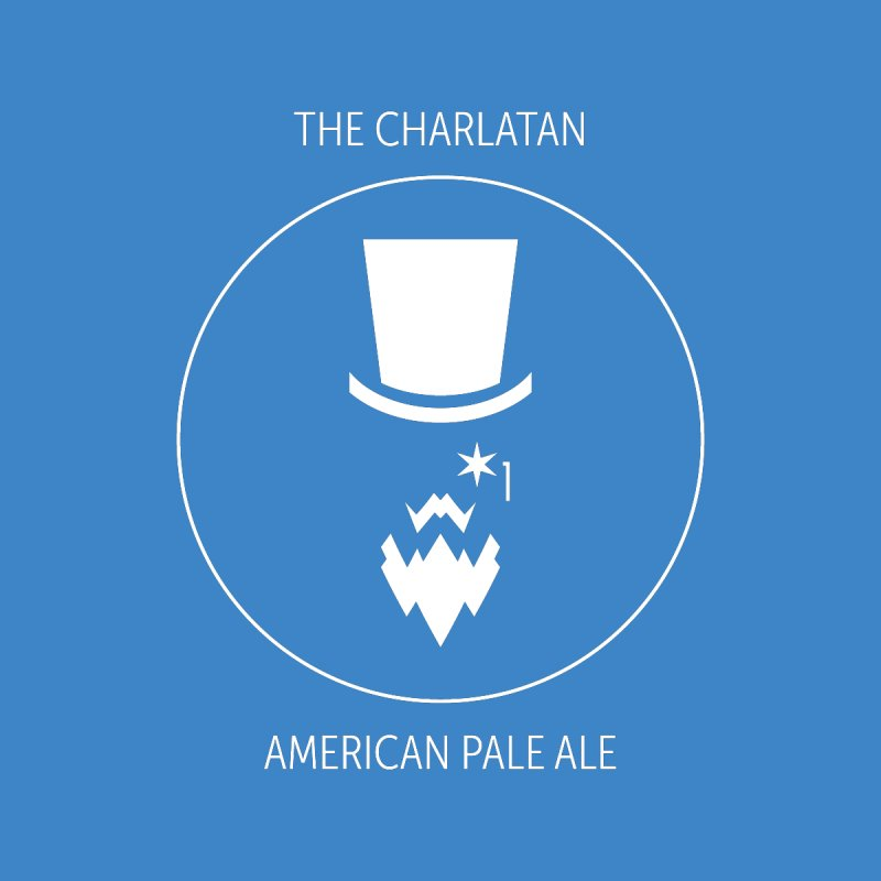 Charlatan - White Logo Men's Tank by Shop Maplewood Brewery & Distillery
