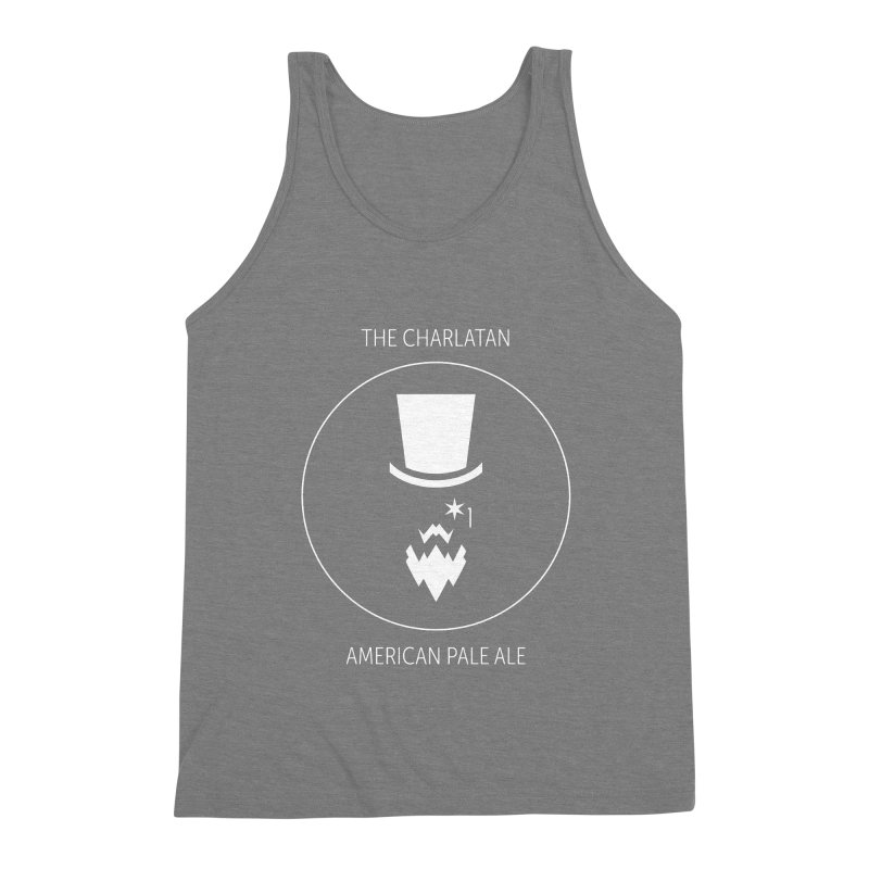 Charlatan - White Logo in Men's Triblend Tank Grey Triblend by Shop Maplewood Brewery & Distillery