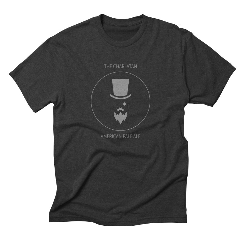 Charlatan - Faded White Logo Men's Triblend T-Shirt by Shop Maplewood Brewery & Distillery