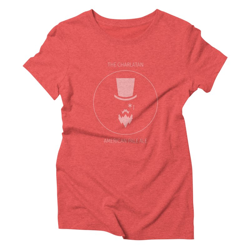 Charlatan - Faded White Logo Women's Triblend T-Shirt by Shop Maplewood Brewery & Distillery