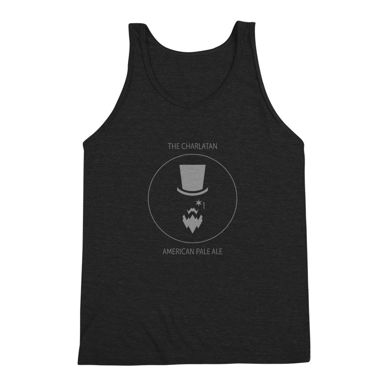 Charlatan - Faded White Logo Men's Triblend Tank by Shop Maplewood Brewery & Distillery