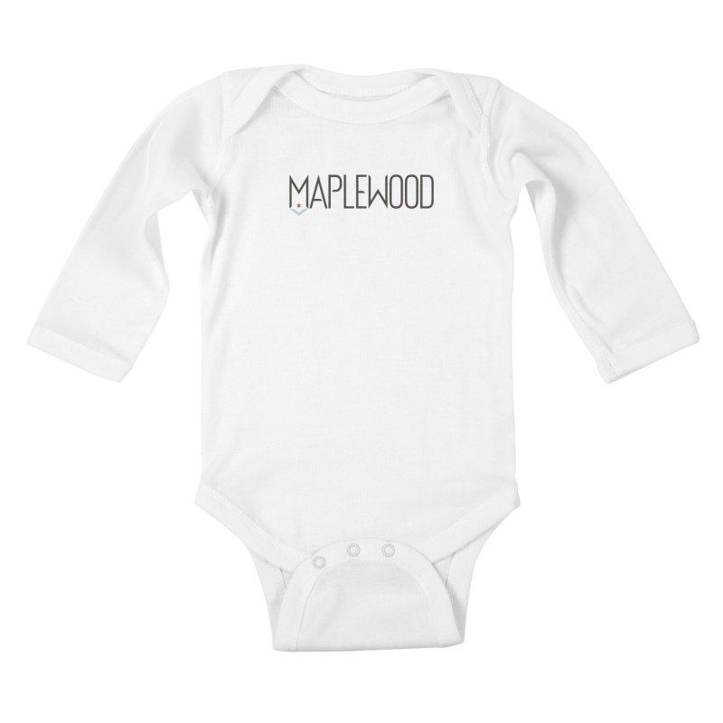 Maplewood - Classic Logo Kids Baby Longsleeve Bodysuit by Shop Maplewood Brewery & Distillery