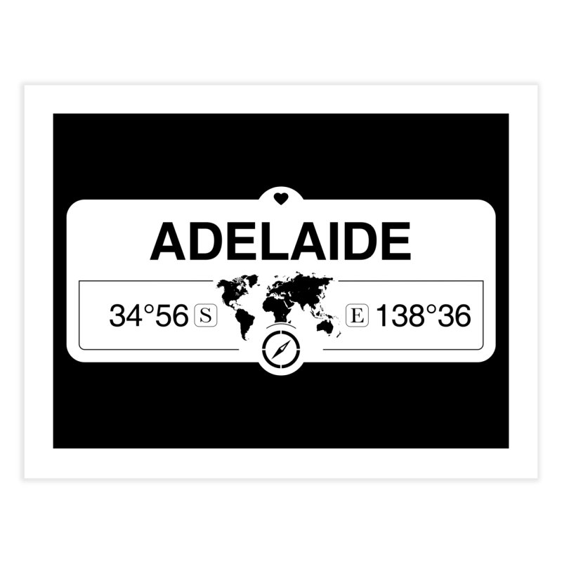 Adelaide South Australia With World Map Coordinates Gps Map Your