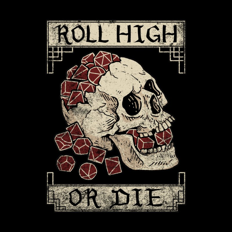 Roll High or Die (Skull and Die) Home Duvet by maratusfunk's Shop