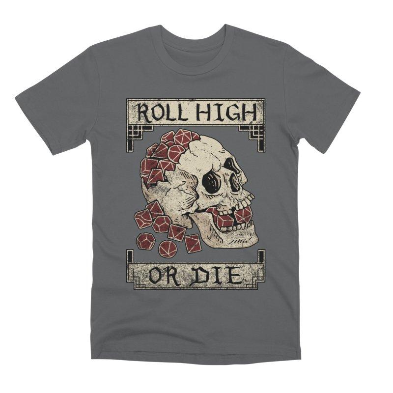 Roll High or Die (Skull and Die) Men's Premium T-Shirt by maratusfunk's Shop
