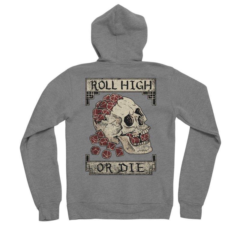 Roll High or Die (Skull and Die) Women's Zip-Up Hoody by maratusfunk's Shop