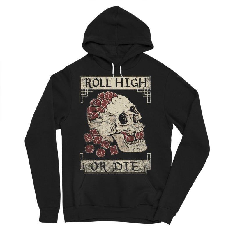 Roll High or Die (Skull and Die) Men's Sponge Fleece Pullover Hoody by maratusfunk's Shop