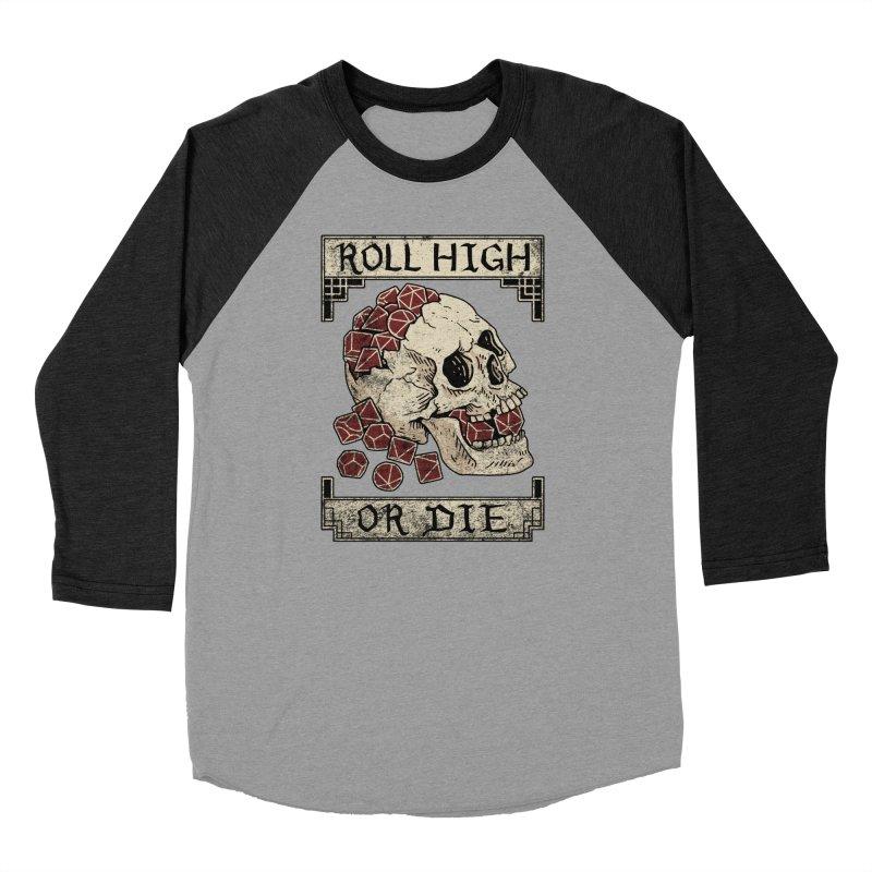 Roll High or Die (Skull and Die) Men's Longsleeve T-Shirt by maratusfunk's Shop
