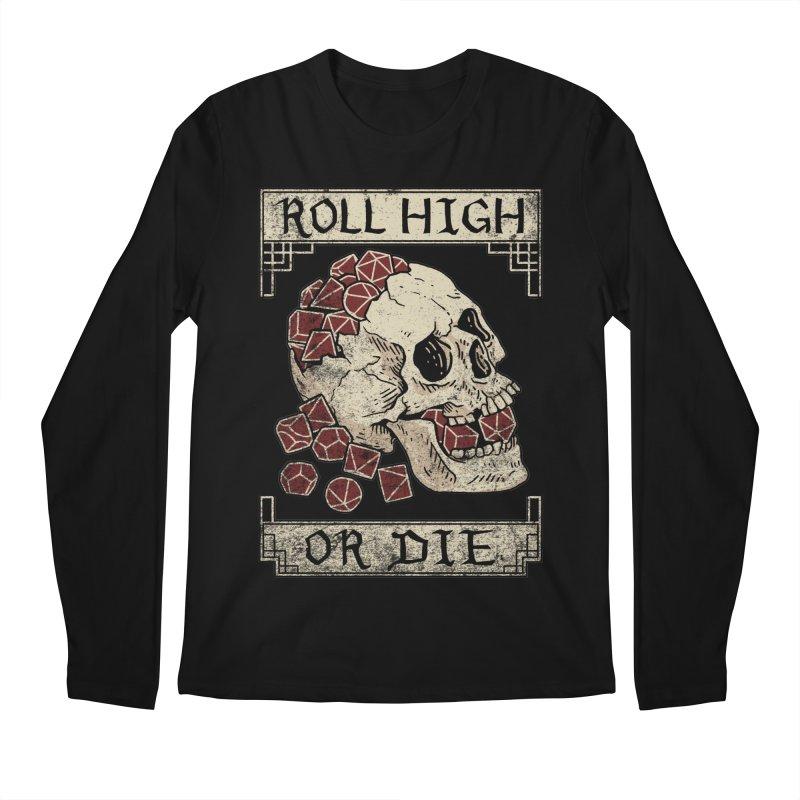 Roll High or Die (Skull and Die) Men's Regular Longsleeve T-Shirt by maratusfunk's Shop