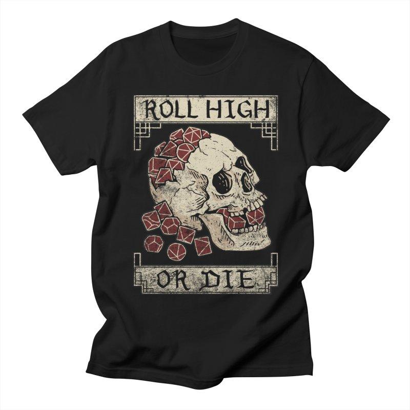 Roll High or Die (Skull and Die) Women's Regular Unisex T-Shirt by maratusfunk's Shop