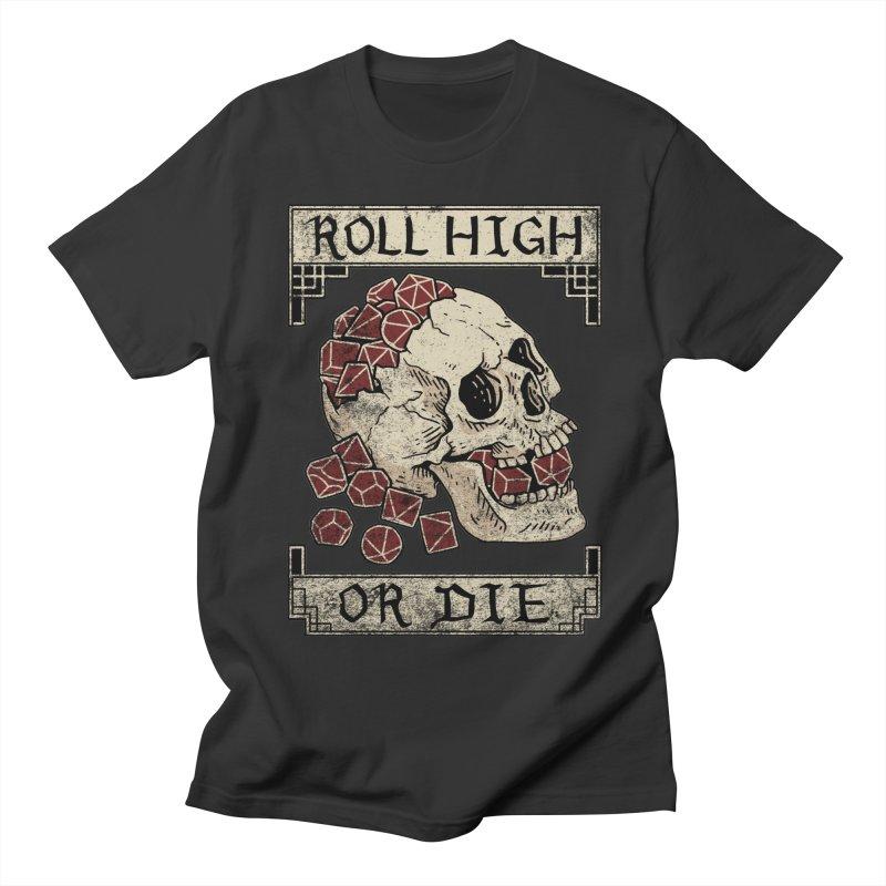 Roll High or Die (Skull and Die) Men's Regular T-Shirt by maratusfunk's Shop