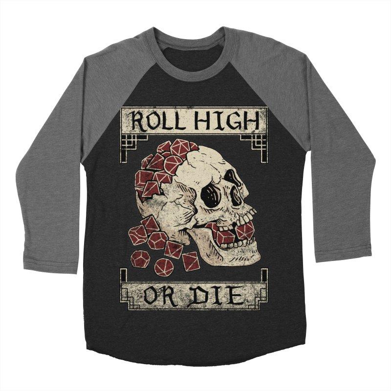 Roll High or Die (Skull and Die) Women's Baseball Triblend Longsleeve T-Shirt by maratusfunk's Shop