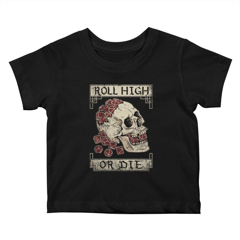 Roll High or Die (Skull and Die) Kids Baby T-Shirt by maratusfunk's Shop