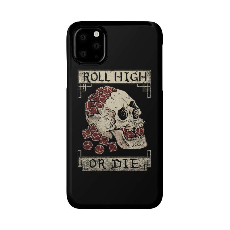 Roll High or Die (Skull and Die) Accessories Phone Case by maratusfunk's Shop