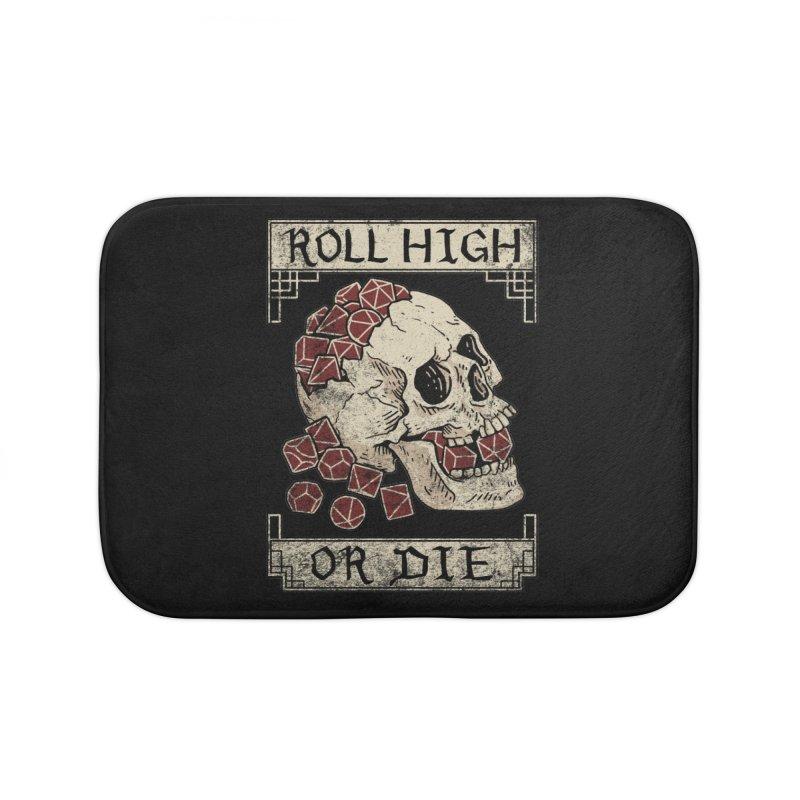 Roll High or Die (Skull and Die) Home Bath Mat by maratusfunk's Shop