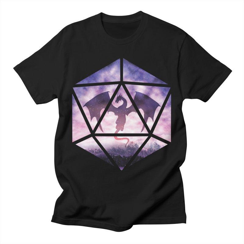 Purple Sky Dragon D20 Men's T-Shirt by maratusfunk's Shop