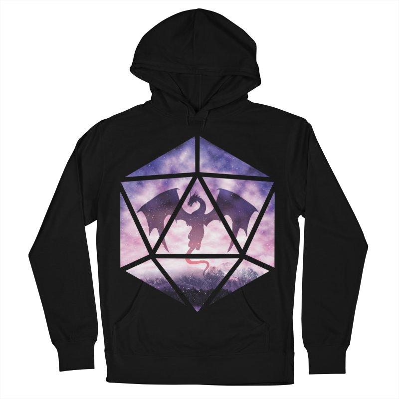 Purple Sky Dragon D20 Men's French Terry Pullover Hoody by maratusfunk's Shop
