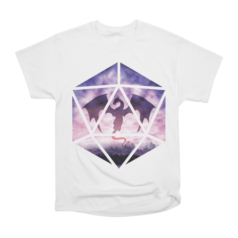 Purple Sky Dragon D20 Men's Heavyweight T-Shirt by maratusfunk's Shop