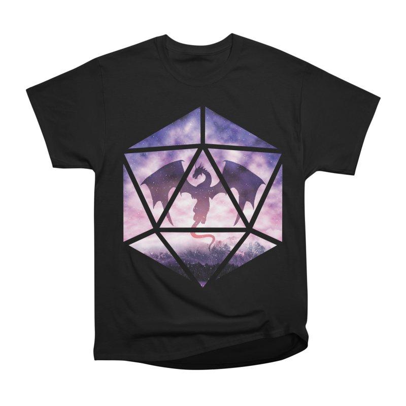 Purple Sky Dragon D20 Men's Heavyweight T-Shirt by maratusfunk's Shop