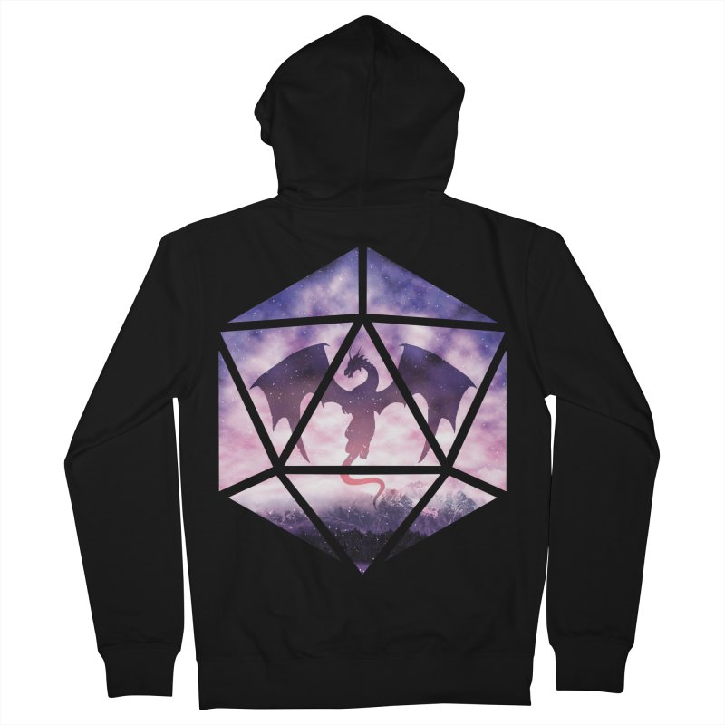 Purple Sky Dragon D20 Women's French Terry Zip-Up Hoody by maratusfunk's Shop
