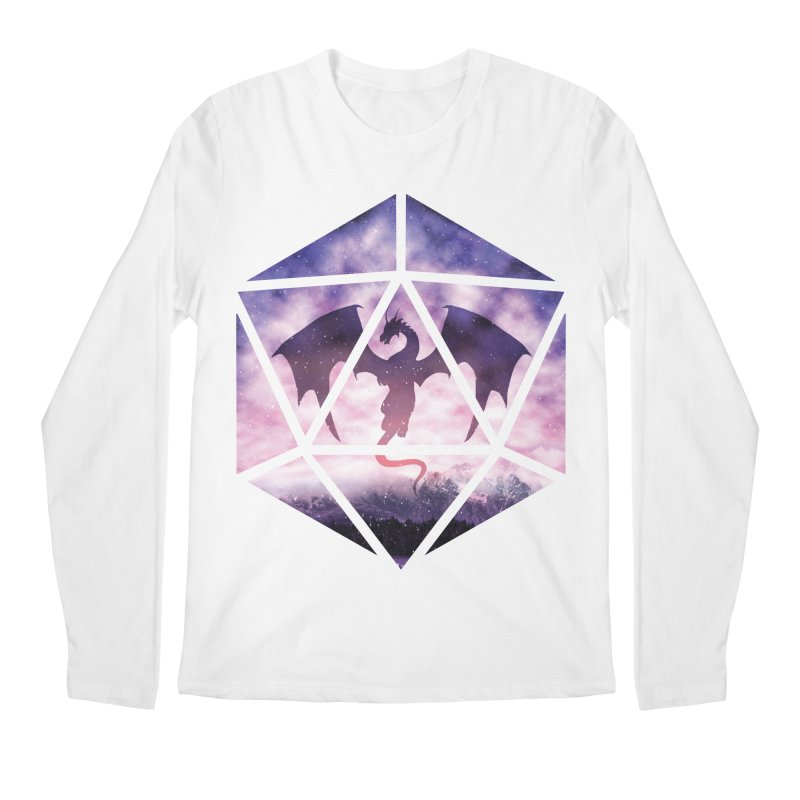 Purple Sky Dragon D20 Men's Regular Longsleeve T-Shirt by maratusfunk's Shop