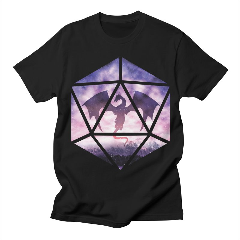 Purple Sky Dragon D20 Men's T-Shirt by maratusfunk's Shop