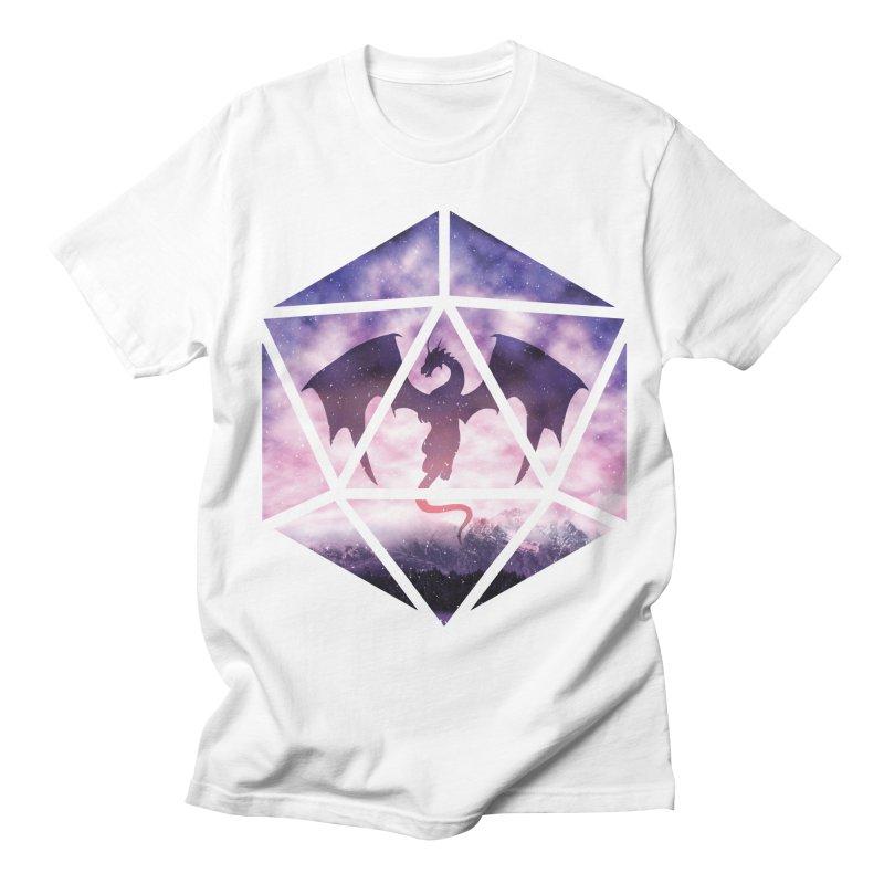 Purple Sky Dragon D20 Women's Regular Unisex T-Shirt by maratusfunk's Shop