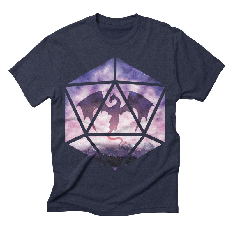 Purple Sky Dragon D20 Men's Triblend T-Shirt by maratusfunk's Shop