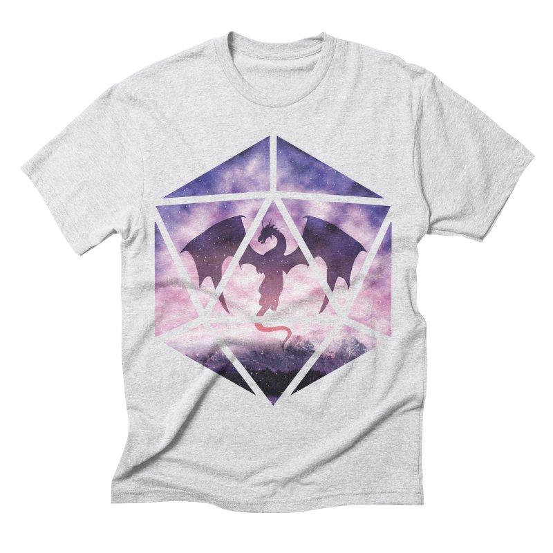 Purple Sky Dragon D20 Men's Triblend T-Shirt by maratusfunk's Shop