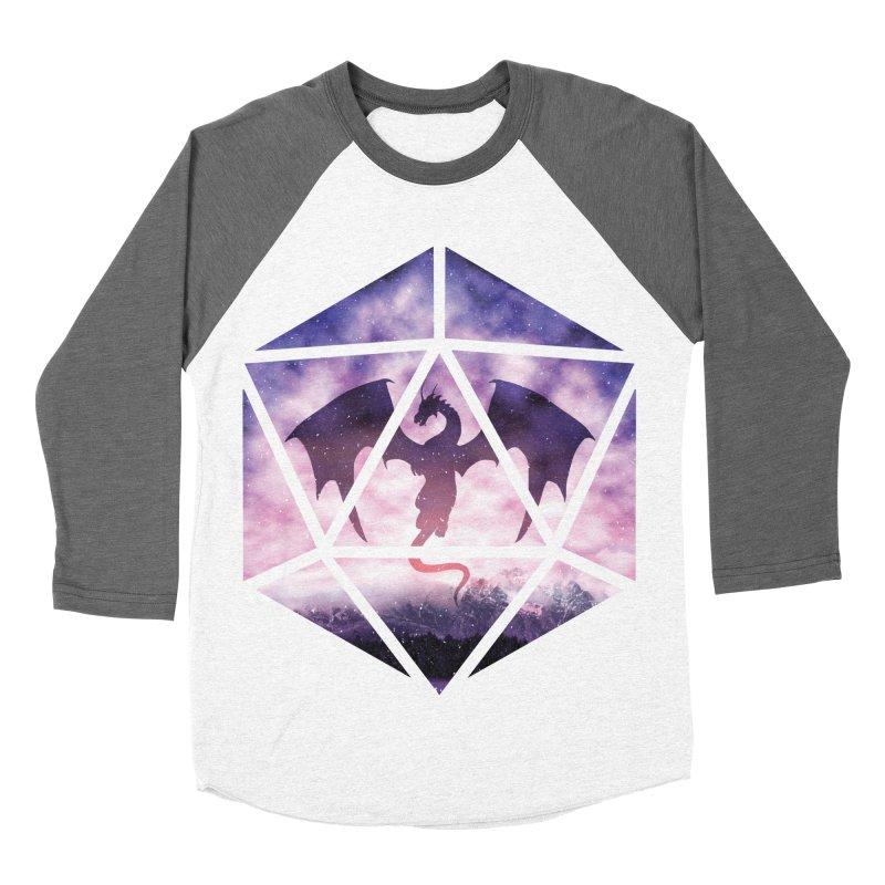 Purple Sky Dragon D20 Women's Baseball Triblend Longsleeve T-Shirt by maratusfunk's Shop