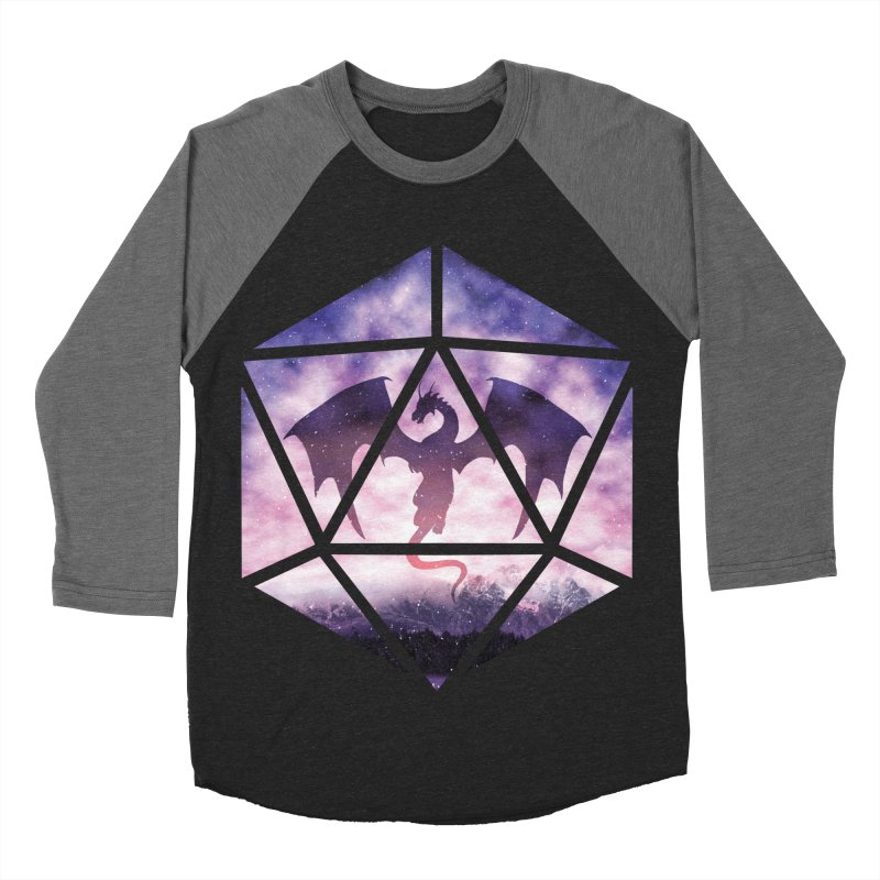 Purple Sky Dragon D20 Men's Baseball Triblend Longsleeve T-Shirt by maratusfunk's Shop